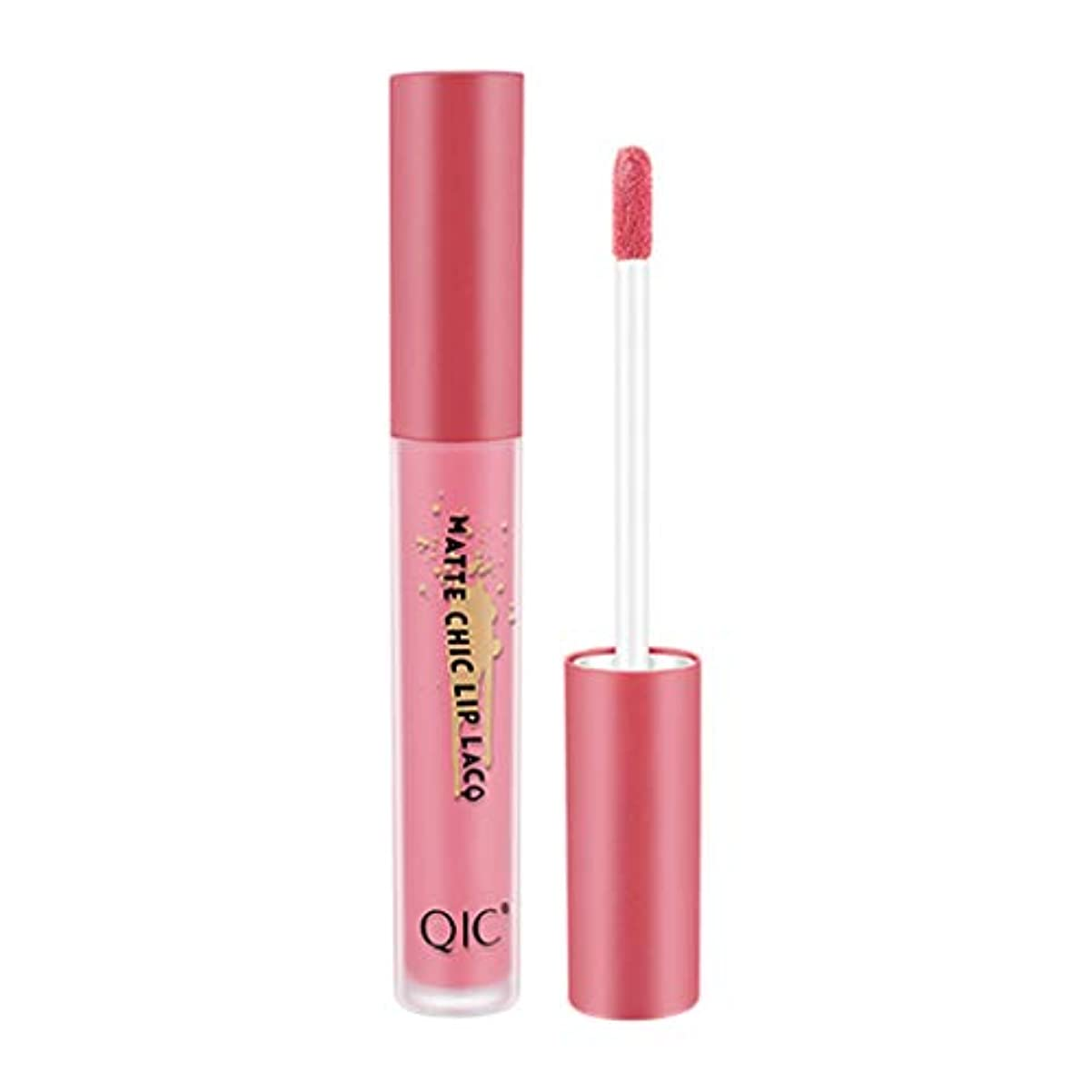 近似栄光同志QIC無光沢のセクシーな液体の唇の光沢の長続きがする防水は24時間を保ちます
