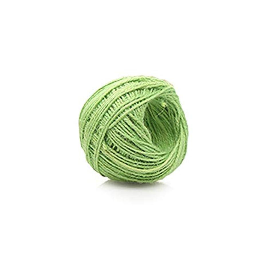 国際傾向データDIYマニュアル麻ひもクラフトジュートコード麻ロープホームファブリックコードユニバーサルラップ装飾結婚式タグ装飾-緑40 M