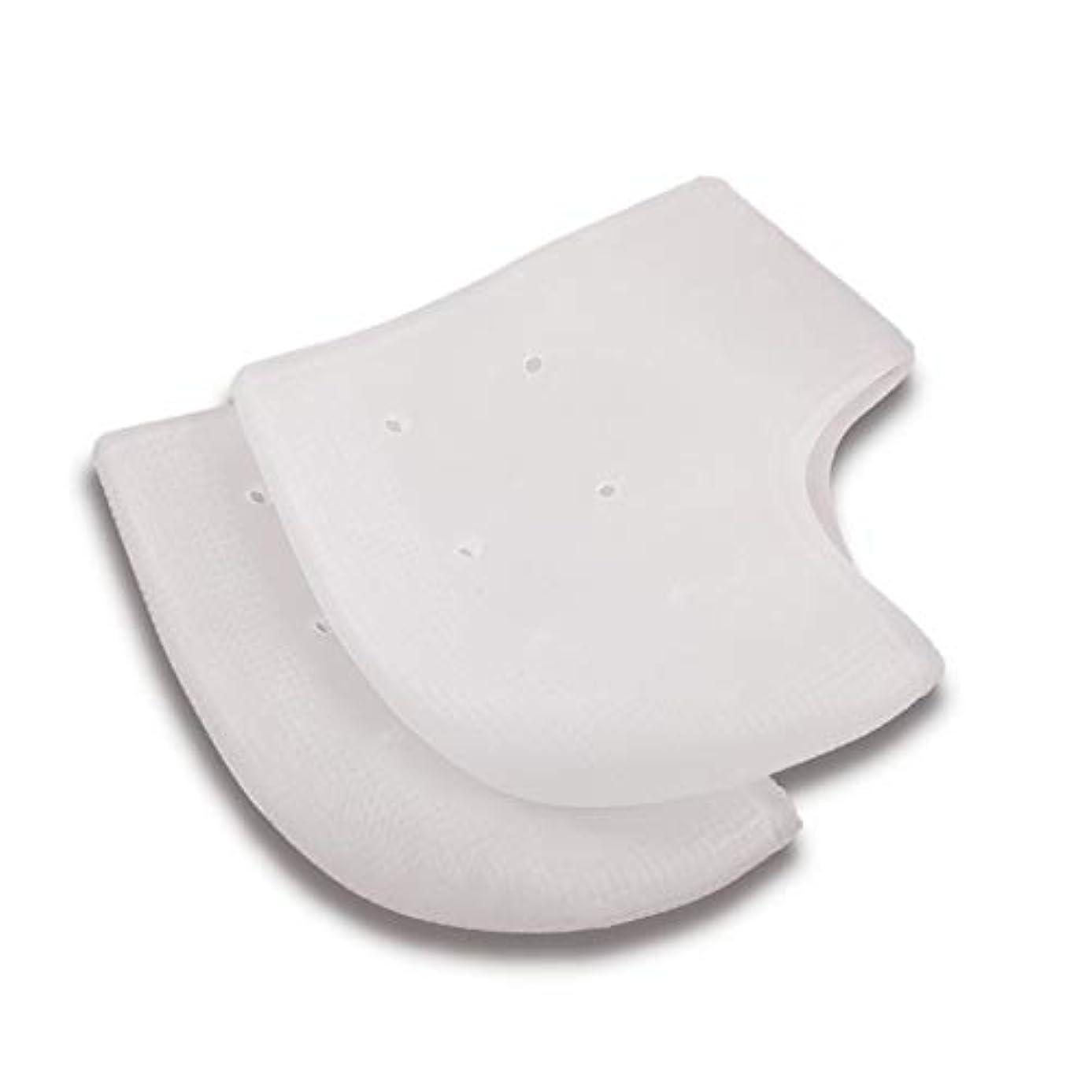 サークル実行可能導出かかと保護カバー 足底筋膜炎インソール かかと保護サポーター 足痛み軽減 かかと痛サポーター 衝撃吸収 ジェルサポーター かかとケア 美足 保湿 かかと靴下 男女兼用 2ペア入り