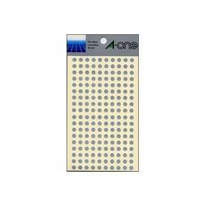 (業務用セット) エーワン カラーラベル 丸型5mm径 07072 銀 1P6シート(1080片)入 【×10セット】