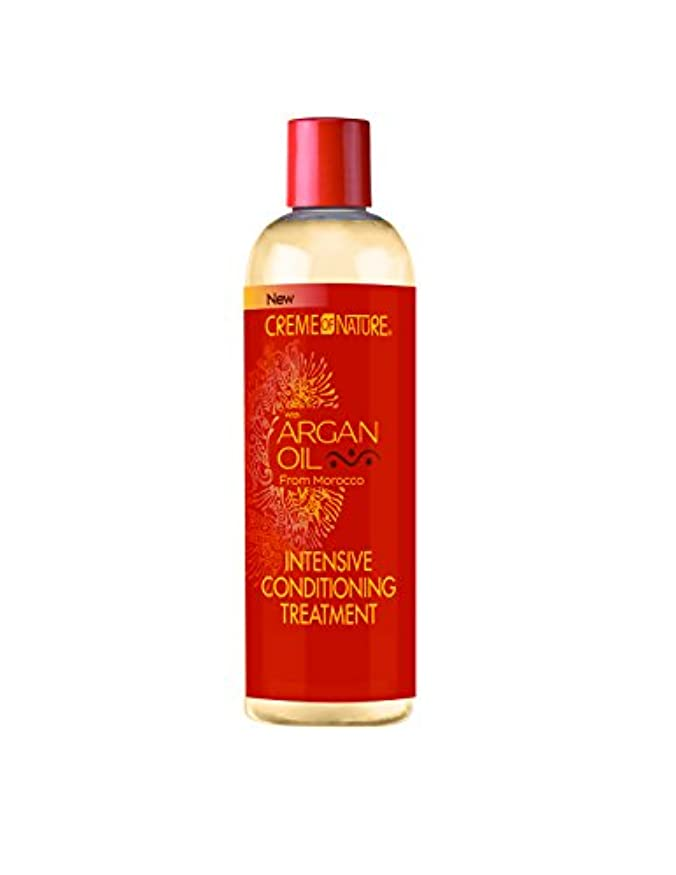 トラブル管理します対話Creme of Nature Argan Oil Condition Intense Treatment 355 ml (並行輸入品)