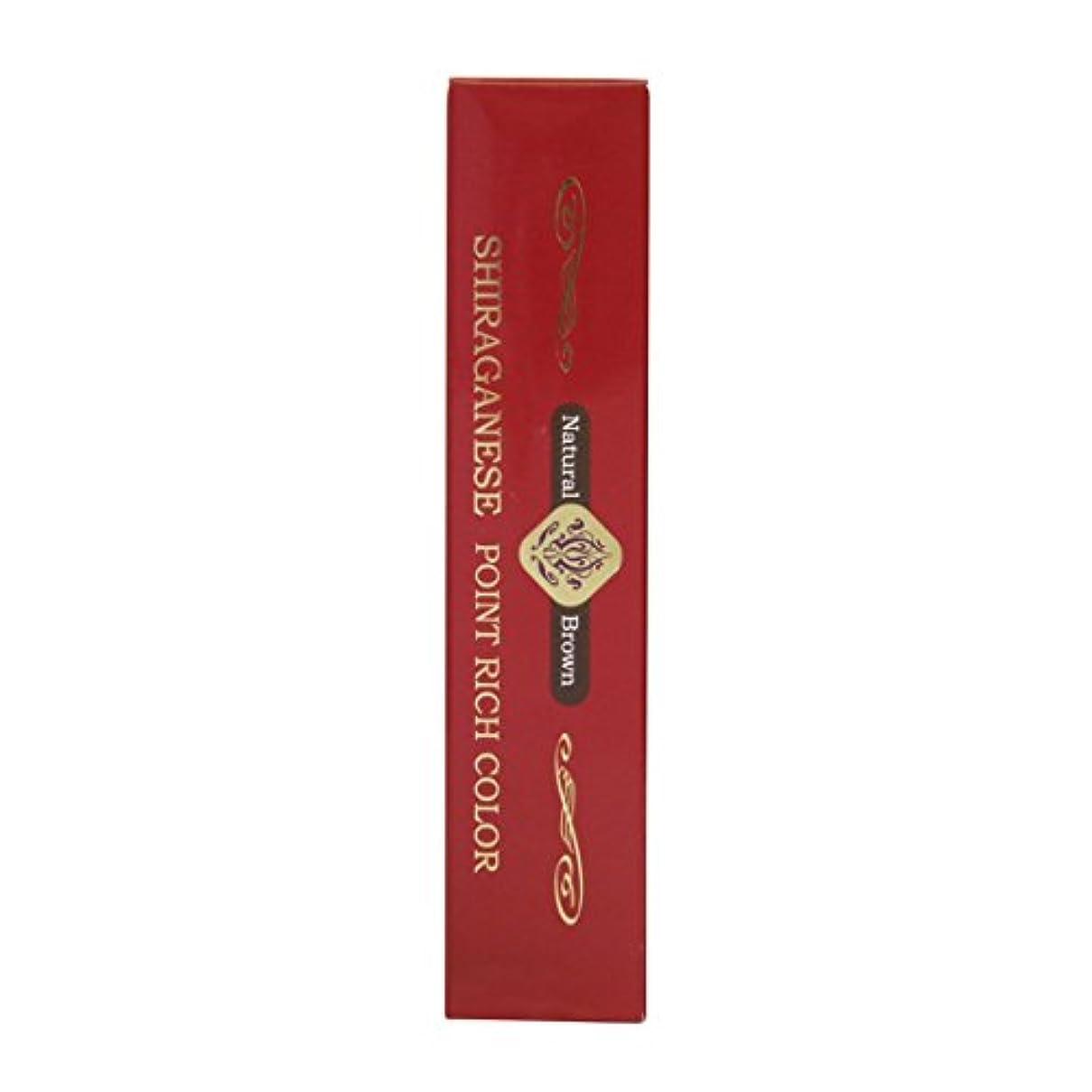 非公式円形のシャットビアント シラガネーゼ ポイントリッチカラー ナチュラルブラウン 20g