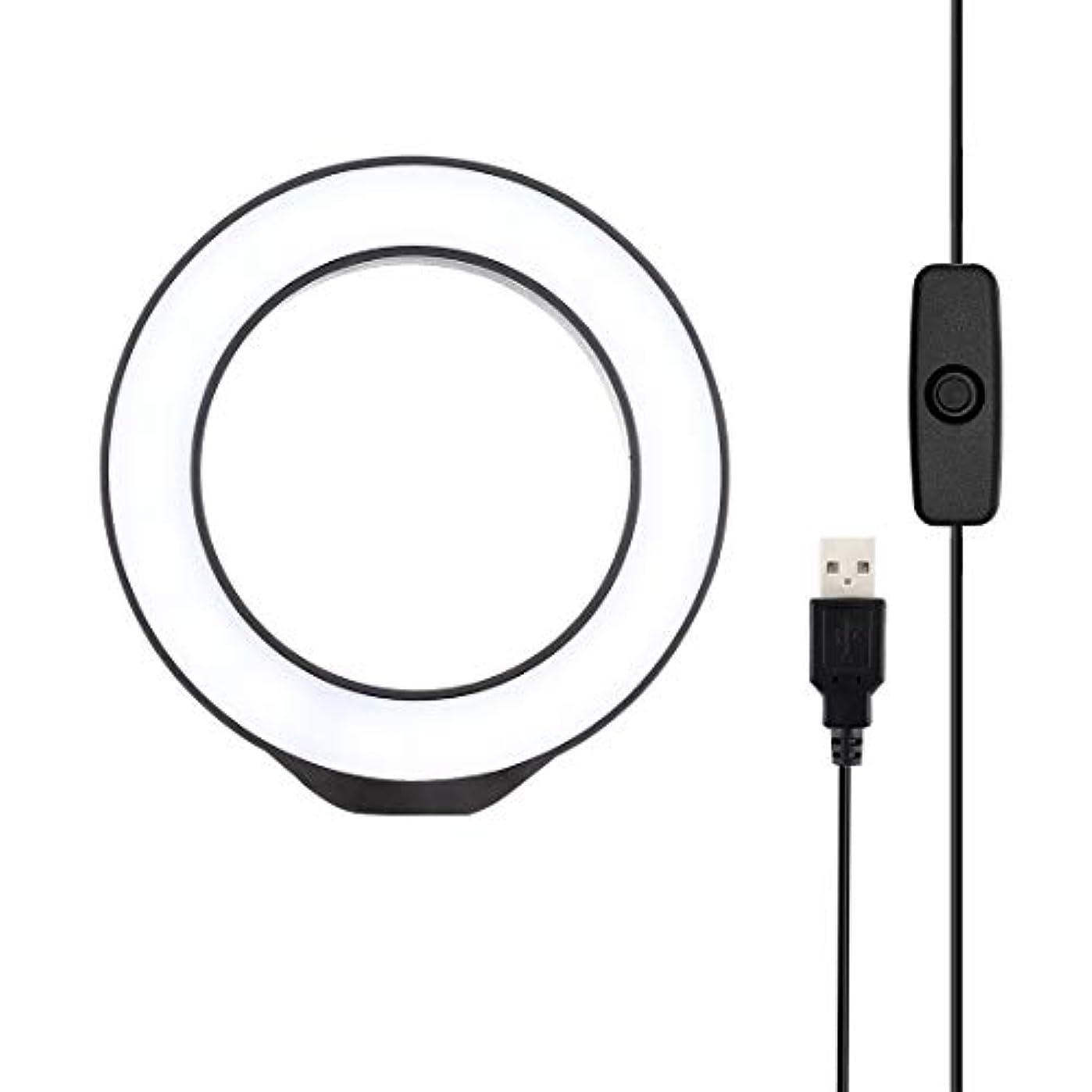 リフト司書忠実YMF 4.7インチ12センチメートルのUSBホワイトライトLEDリングVlogging写真ビデオライト (色 : Black)