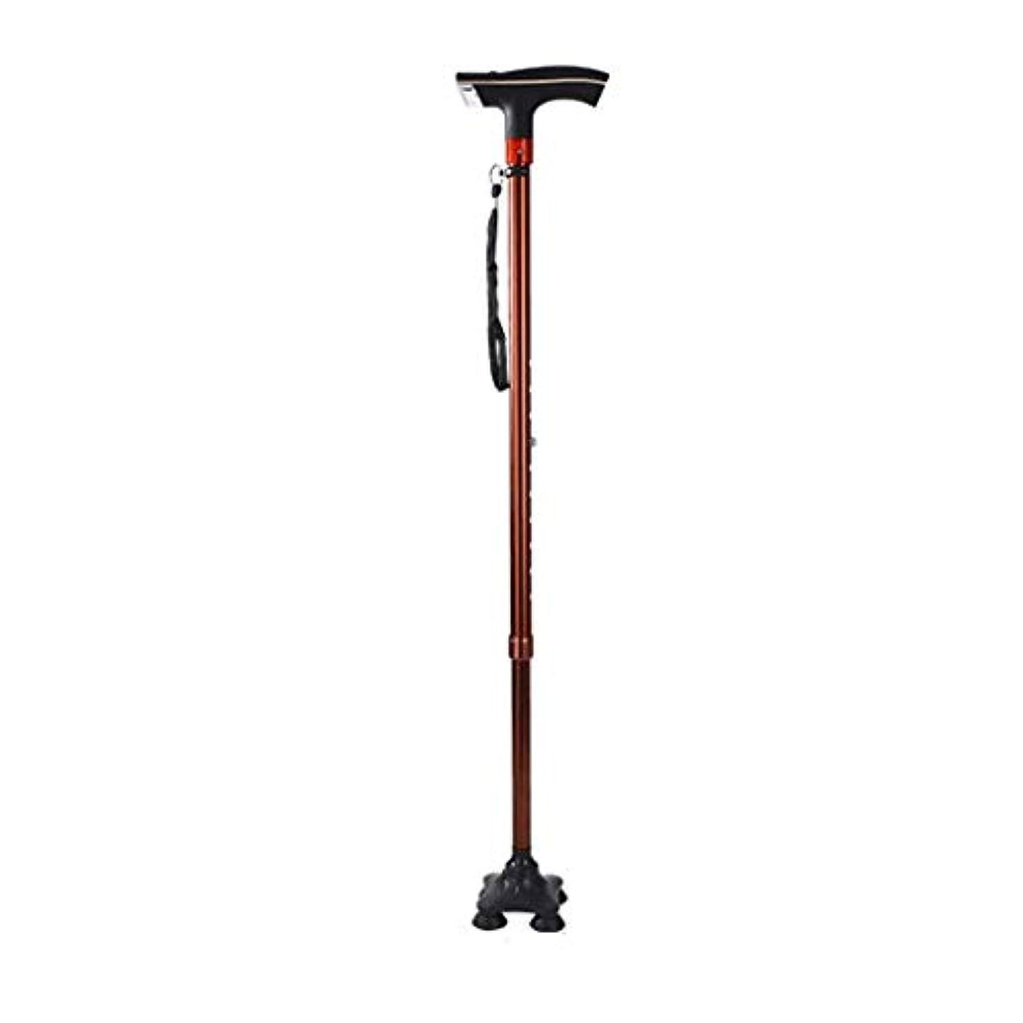 船員出席左アルミ合金テレスコピック杖用高齢者4フィート杖ledライトデザインベアリング100キログラム
