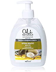 Bielita & Vitex Oil Naturals Line | Gentle Cleansing & Care Hand Cream-Soap, 400 ml | Argan Oil, Silk Proteins...