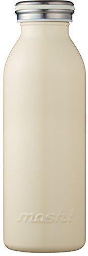 水筒 真空断熱 スクリュー式 マグ ボトル 0.45L アイボリー mosh! (モッシュ! ) DMMB450IV