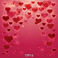 wolada 10x 10ftバレンタインの日ビニール写真バックドロップウェディング写真背景スタジオプロップ10916