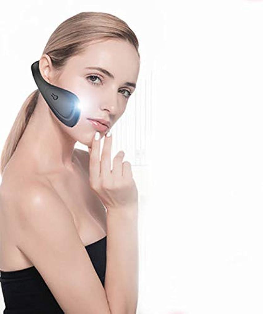 認識一目そばにLquideフェイスリフティングベルトアーティファクトV顔包帯下顎頬骨咬筋矯正顔シリコーン電気美容機器