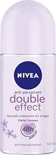 NIVEA Double Effect Violet Senses Roll On Anti-Perspirant Deodorant, 50ml