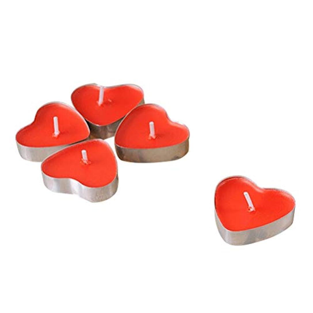 こする簡略化する先生VORCOOL 50本禁煙ロマンチックな蝋燭の結婚提案ハート型のろうそくの蝋燭