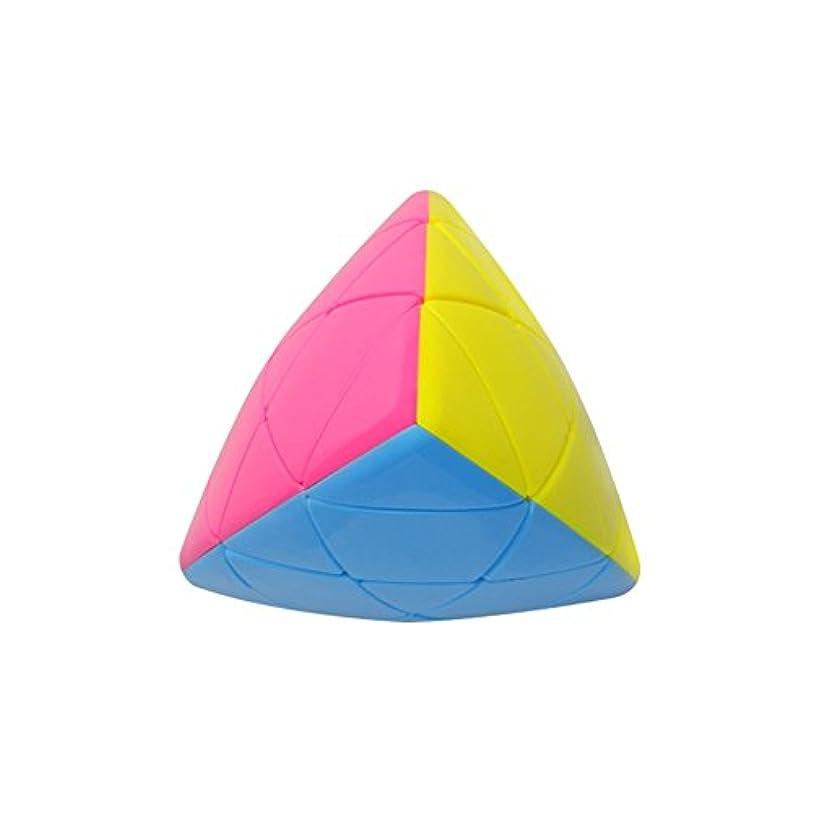 圧縮するポット魂Qiyunポケットキューブ2 x 2 Skewbポケットキューブ2層4面体パズルキューブBrain Teaserマジックキューブ
