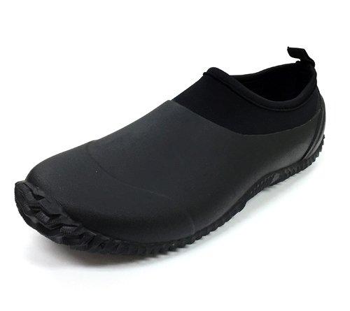[ アンドモア ] and・more ウエットスーツ級 防水 防滑 レインシューズ メンズ 短靴(39)