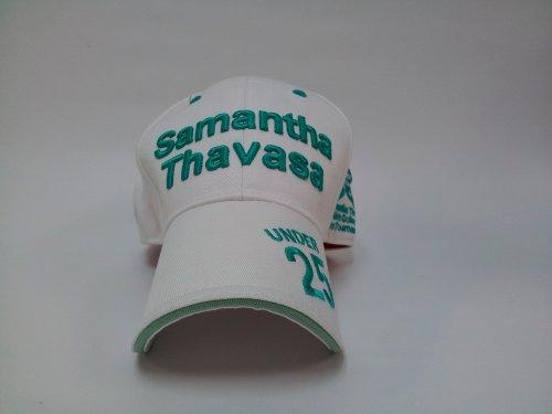 レディースキャップ ゴルフ フリーサイズ ホワイト/グリーン ST5 サマンサタバサ
