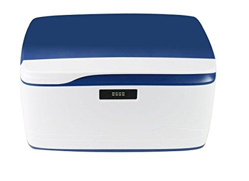 収納ボックス EVERTOP 32L多用途なストレージ箱、頑丈・安全・安心なカラー収納ケース、コートロック付き&携帯便利な自動車や事務所等広い応用範囲適用 (紺色)