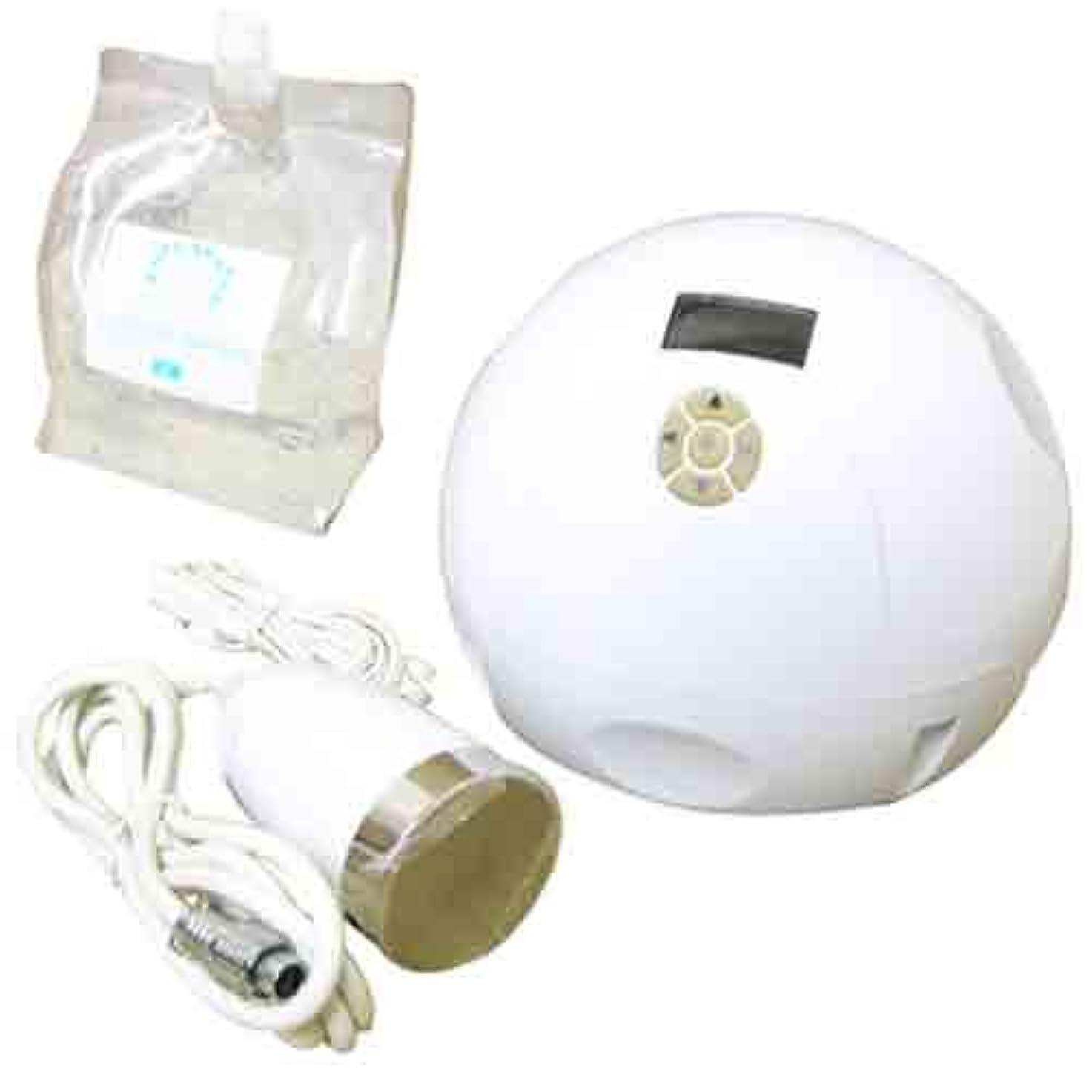 里親準備獲物家庭用美容器キャビテーション mini-MAX+キャビ&フラッシュジェル〈スーパーハード〉3L付き