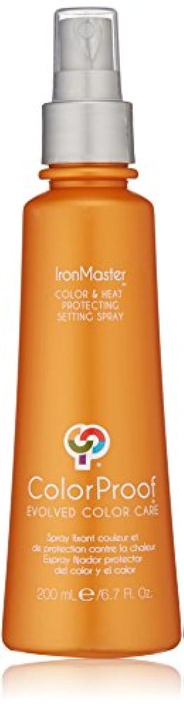 高い表示カプセルColorProof Evolved Color Care ColorProof色ケア当局IronMaster色&熱は、6.7 FLを設定するスプレーを保護します。オズ。 オレンジ