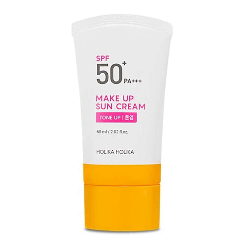 愛人アボートメンテナンス[2018]ホリカホリカ メイクアップ 日焼け止めクリーム/UVケア?Holika Holika Make Up Sun Cream SPF50+ PA+++ 60ml [並行輸入品]