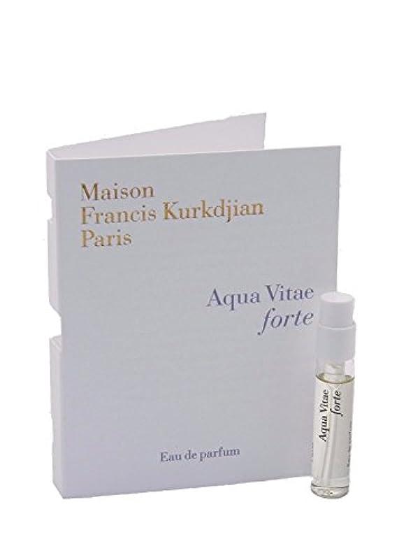 クリーク学校教育上級Maison Francis Kurkdjian Aqua Vitae FORTE EDP Vial Sample 2ml(メゾン フランシス クルジャン アクア ヴィタエ フォルテ オードパルファン 2ml)[海外直送品] [並行輸入品]