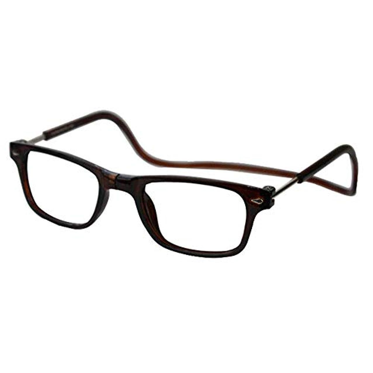 読書用メガネ 吊り下げ式の老人用特殊メガネ朗読用メガネ あなたの倍率を選択してください (色 : ブラック, サイズ : (+2.5))