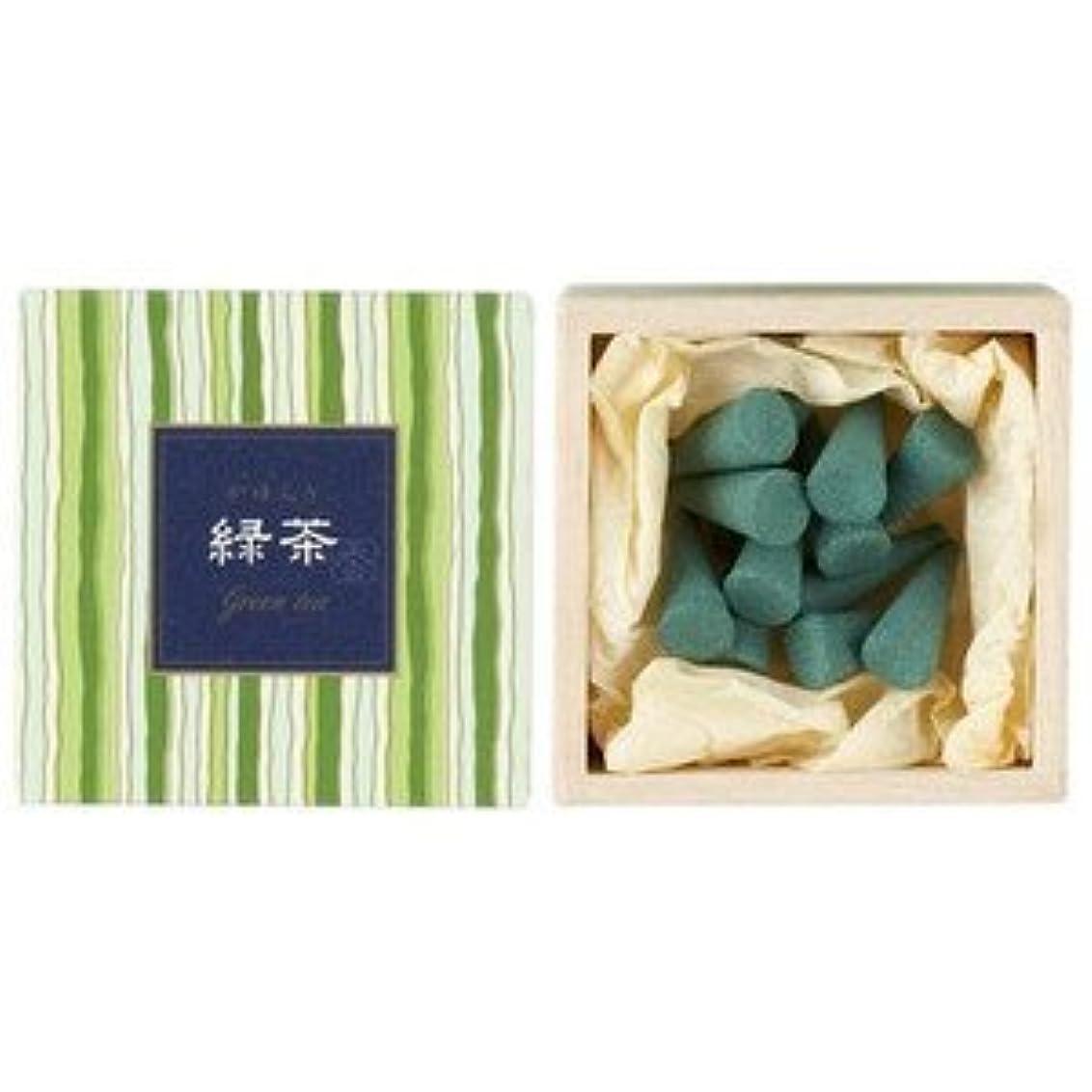 画家属性男やもめ日本香堂 かゆらぎコーン 緑茶