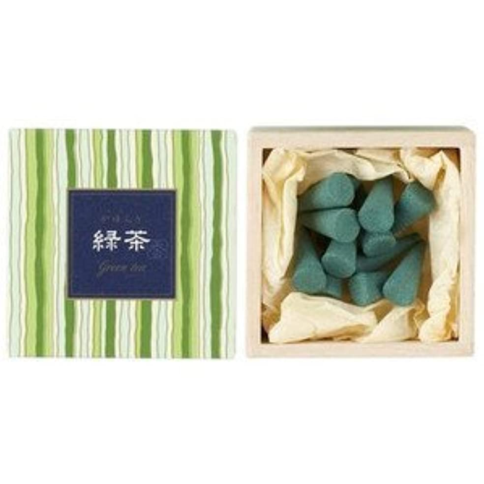 昇進説明的位置する日本香堂 かゆらぎコーン 緑茶