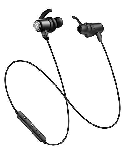 SoundPEATS(サウンドピーツ) Q35Pro Bluetooth イヤホン AAC & APT-Xコーデック対応 高音質・低遅延 10MMドライバー採用 8時間連続再生 IPX6防水 マグネット内蔵 ハンズフリー通話 CVC6.0 ノイズキャンセリング搭載 Bluetooth 4.1 スポーツ イヤホン ブルートゥース イヤホン 両耳 ワイヤレス ヘッドホン [メーカー1年保証] (Black)