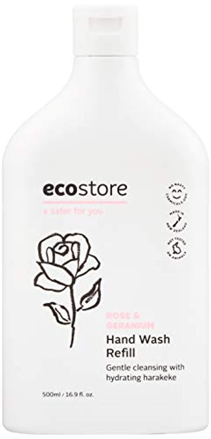 どのくらいの頻度で機構皮ecostore(エコストア) ハンドウォッシュ 【ローズ&ゼラニウム】 500ml 詰め替え用 液体タイプ