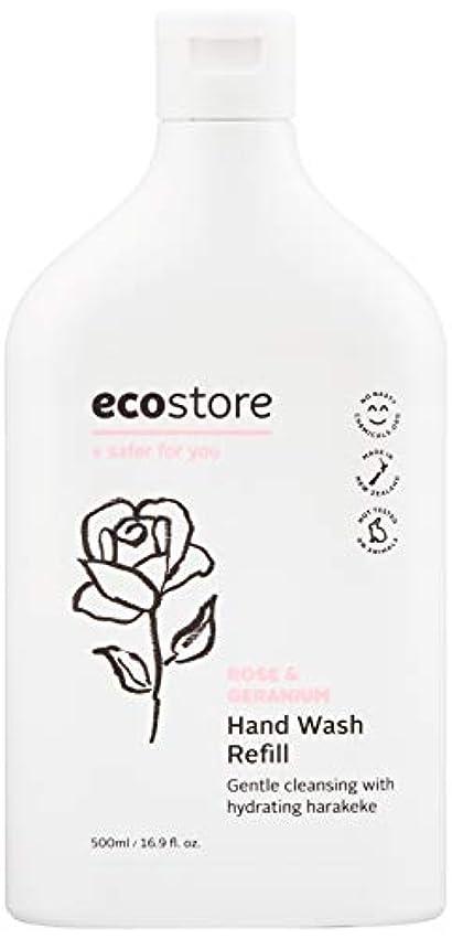 蒸可動因子ecostore(エコストア) ハンドウォッシュ 【ローズ&ゼラニウム】 500ml 詰め替え用 液体タイプ