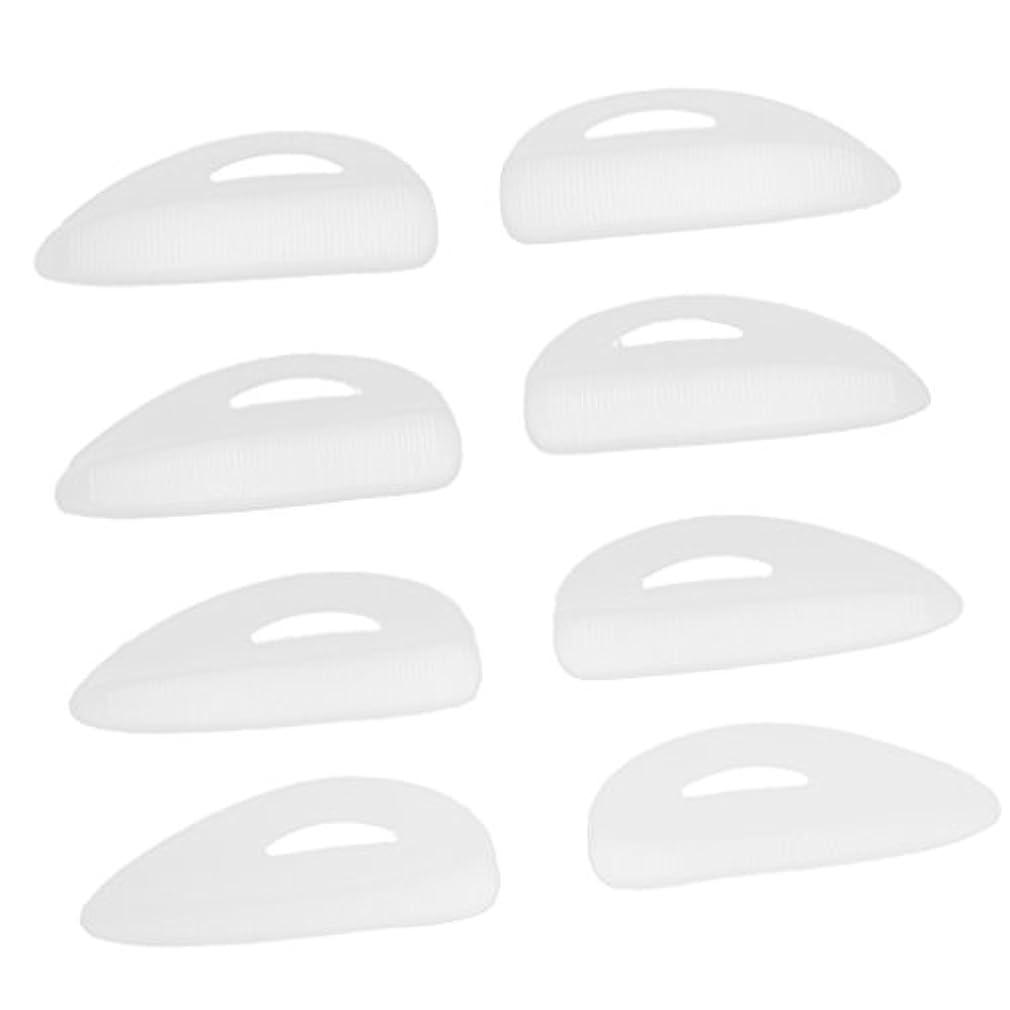 証明書チーズ仮説4ペア つけまつげパッド アイラッシュ まつげ カーラーパッド 再利用可 シリコン エクステンションシールド 化粧ツール