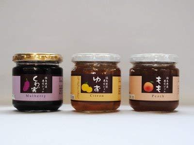 お野菜&果実ジャム 3種類セット くわの実 ゆず もも 福島土産