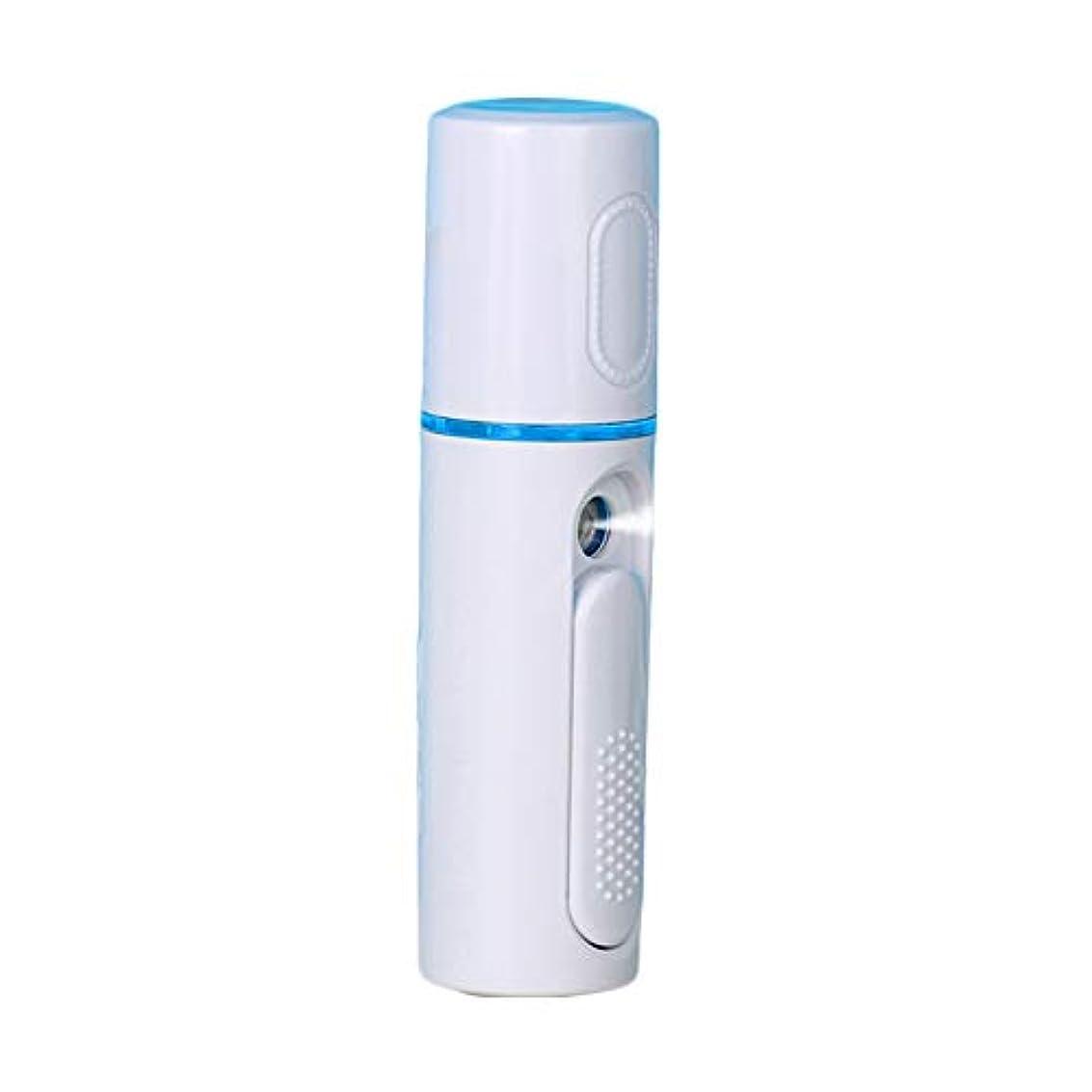 派生するペスト不注意美顔器 噴霧式 ミニ携帯 ハンディ 美顔スプレー保湿 美白顔用加湿器 フェイススチーマー 補水美容器 小型 ナノミスト USB
