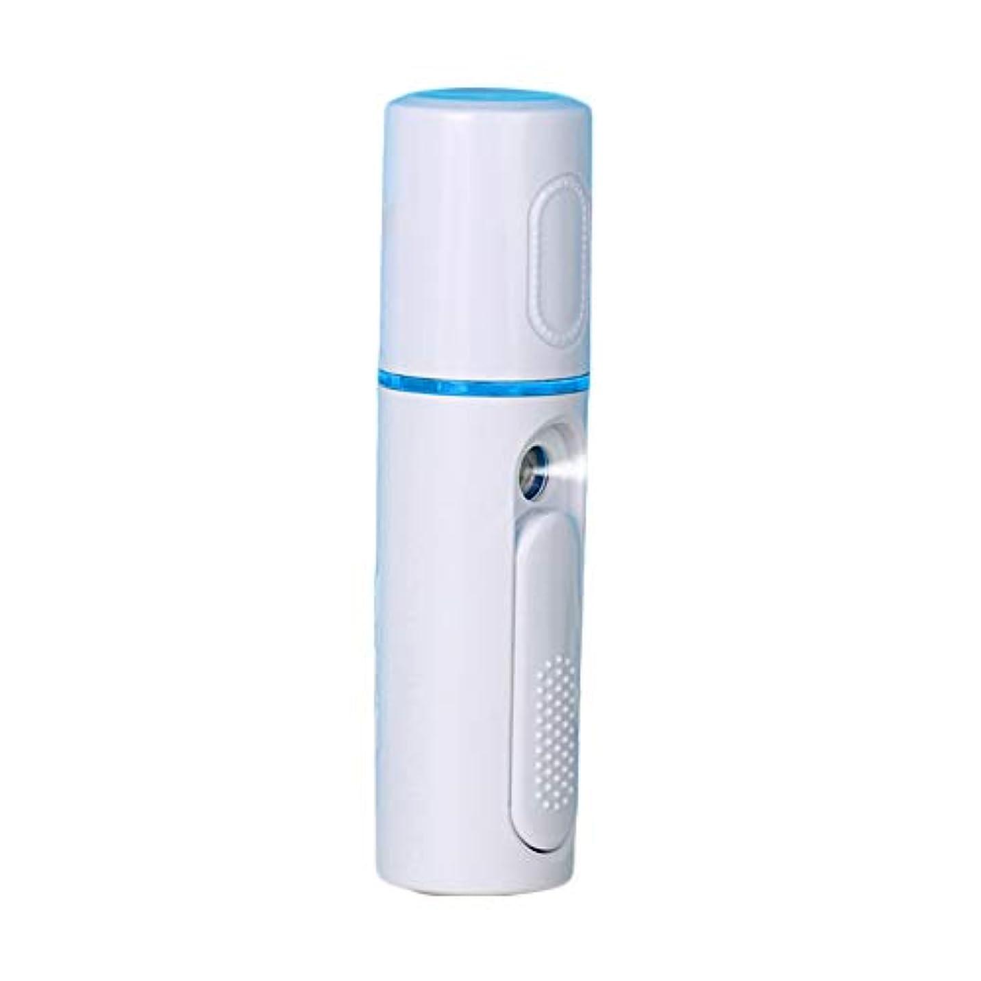 塩ひいきにする難民美顔器 噴霧式 ミニ携帯 ハンディ 美顔スプレー保湿 美白顔用加湿器 フェイススチーマー 補水美容器 小型 ナノミスト USB
