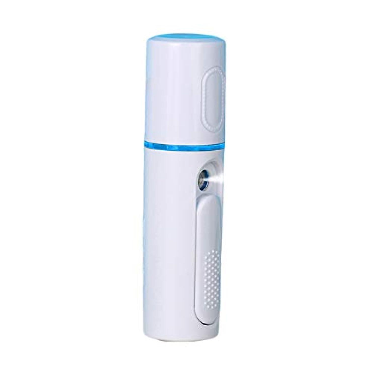 水を飲む鳴り響く豆腐美顔器 噴霧式 ミニ携帯 ハンディ 美顔スプレー保湿 美白顔用加湿器 フェイススチーマー 補水美容器 小型 ナノミスト USB