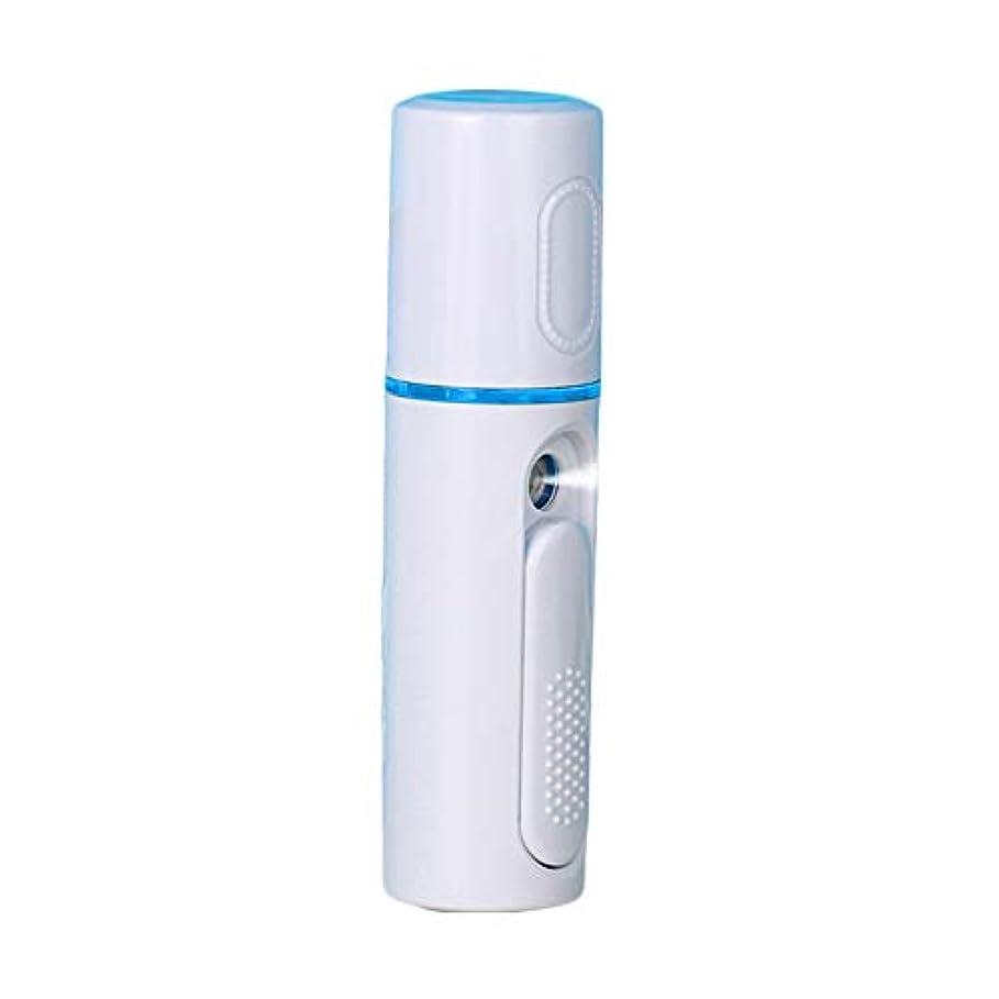 本物のけがをするフライト美顔器 噴霧式 ミニ携帯 ハンディ 美顔スプレー保湿 美白顔用加湿器 フェイススチーマー 補水美容器 小型 ナノミスト USB