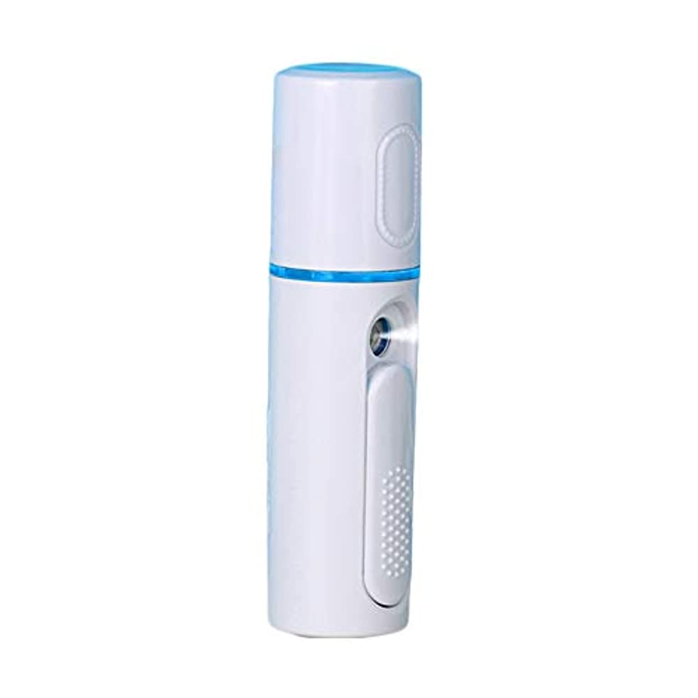 適応加害者クラックポット美顔器 噴霧式 ミニ携帯 ハンディ 美顔スプレー保湿 美白顔用加湿器 フェイススチーマー 補水美容器 小型 ナノミスト USB