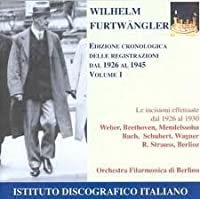 Chronological Edition I: 1926-1930 by Wilhelm Furtwangler