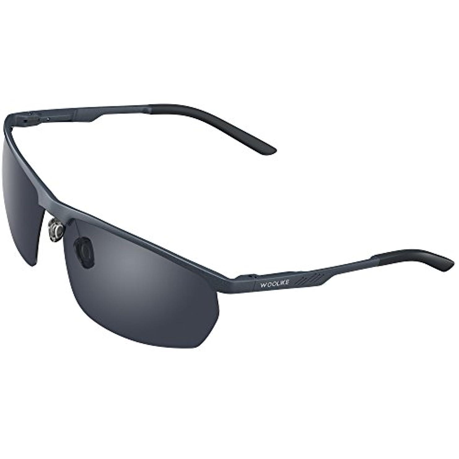 牧師インストラクター美しいWOOLIKE 偏光レンズ スポーツサングラス 超軽量 メンズレディース UV400 紫外線カット アルミ-マグネシウム合金 サングラス 自転車/釣り/野球/テニス/スキー/ランニング/ゴルフ/夜間ドライブ 偏向サングラス W820