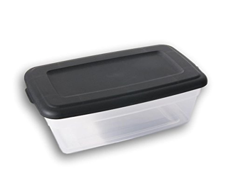 Sterilite 6 QuartストレージビンShoeボックス – クリア、ブラック
