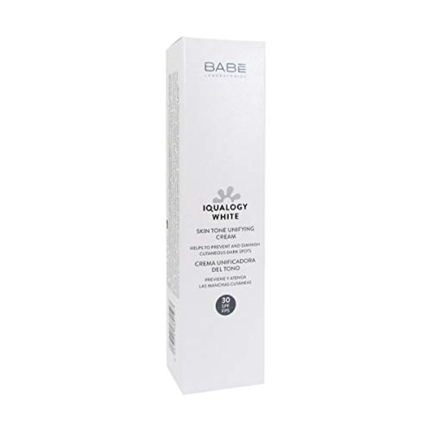 共和国戸口寛大さBab Iqualogy White Cream Spf30 50ml [並行輸入品]