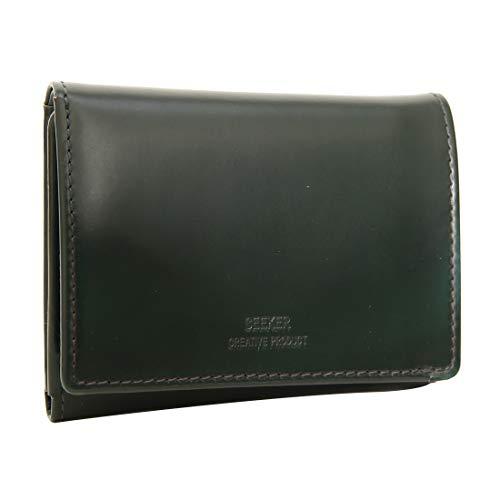 a871d20bce11 [シーカー] SKW-014403 URAGANOレザー 本牛革の3つ折り短財布 メンズ