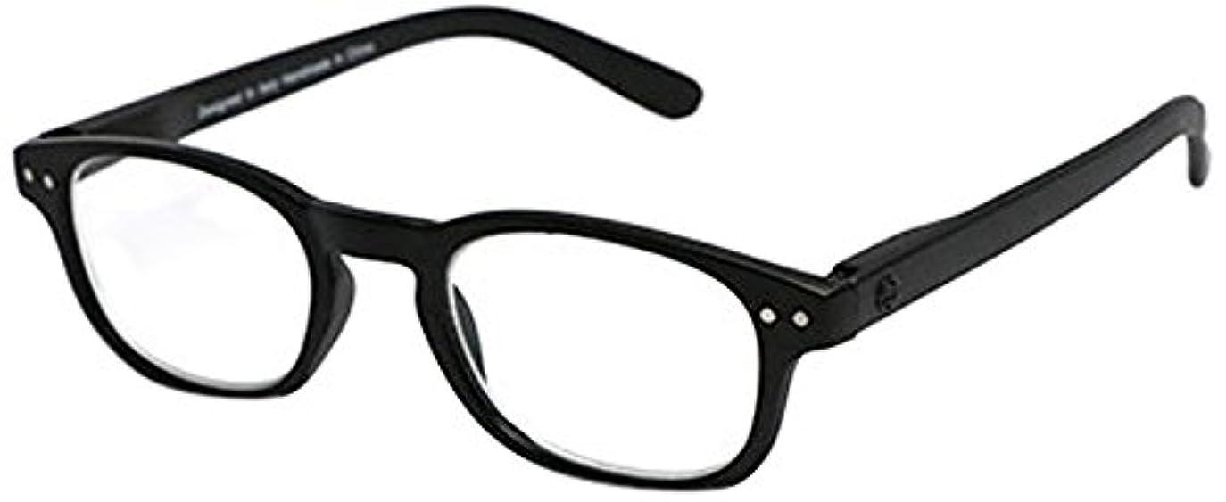 ジェット経営者ルーフsempre art studio(センプレアートスタジオ) リーディンググラス (老眼鏡) ETTORE +2.50 ブラックマット