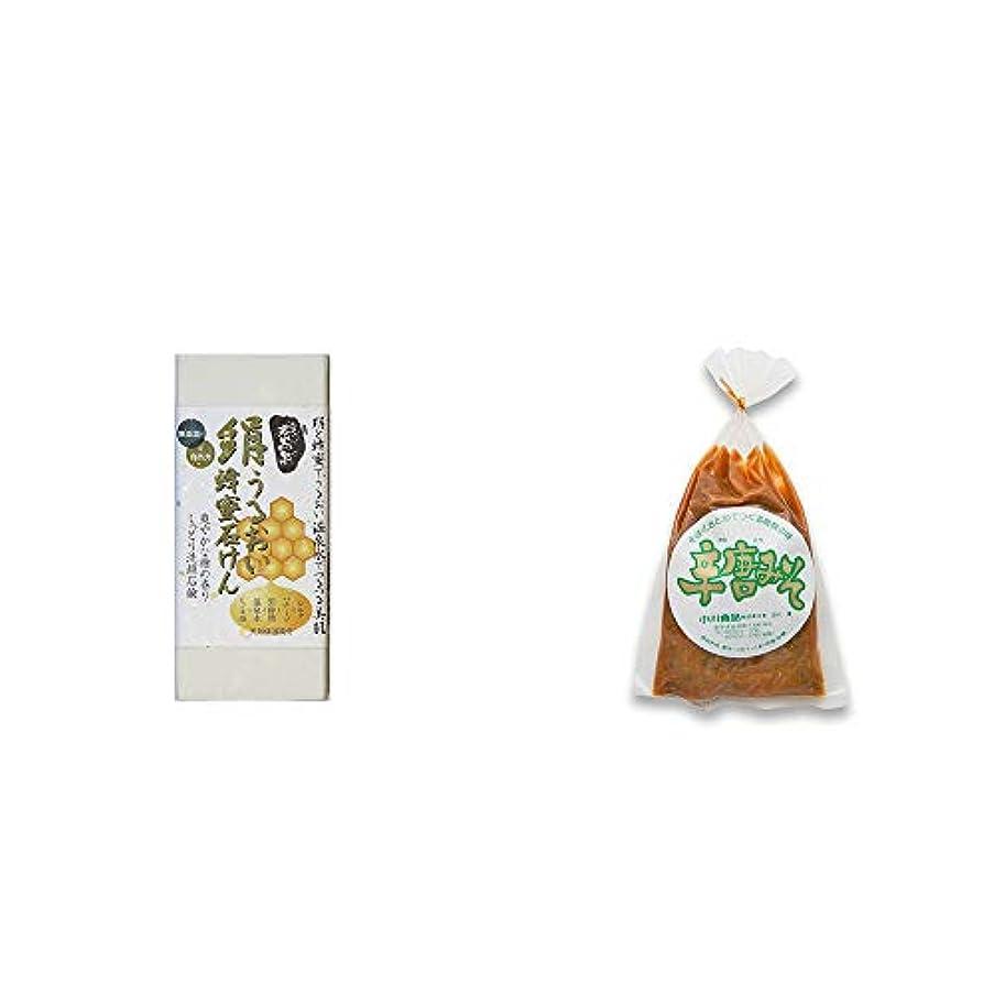 通り抜ける冗談でフィドル[2点セット] ひのき炭黒泉 絹うるおい蜂蜜石けん(75g×2)?辛唐みそ(130g)