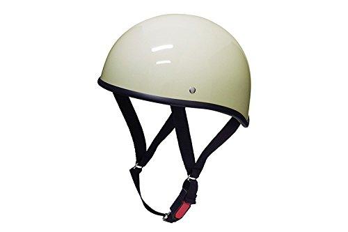 バイクパーツセンター ヘルメット ハーフ ダックテール アイボリー XL (頭囲 61cm~62cm未満) 711802