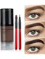 防水眉毛色合いジェルキット、眉メイク用長持ちブロウカラージェルマスカラ、フレークプルーフ、汚れ防止、ブラックブラウン Waterproof Eyebrow Tint Gel Kit, Long Lasting Brow Color Gel Mascara for Eyebrow Makeup,Flake-proof,Smudge-proof, Black Brown