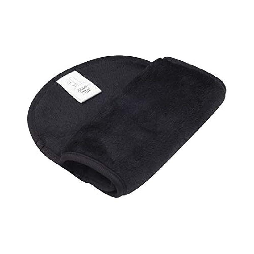 メイク落とし布マジックタオル、再利用可能な洗顔タオル - 化学薬品を含まない、ただ水で化粧をすぐに落とす(6PCS),Black