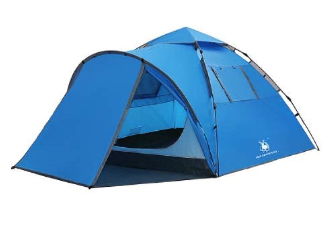 テキスト特権的完璧なSun-happyyaa 大規模スポーツ屋外自動二重層防雨テント3-4人強い換気、安定した構造、家族の自走キャンプテント 購入へようこそ