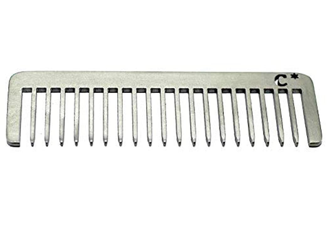 有効やめる明快Chicago Comb Short Model 5 Standard, Made in USA, Stainless Steel, Wide Tooth, Rake Comb, Anti-Static, Ultra-Smooth...