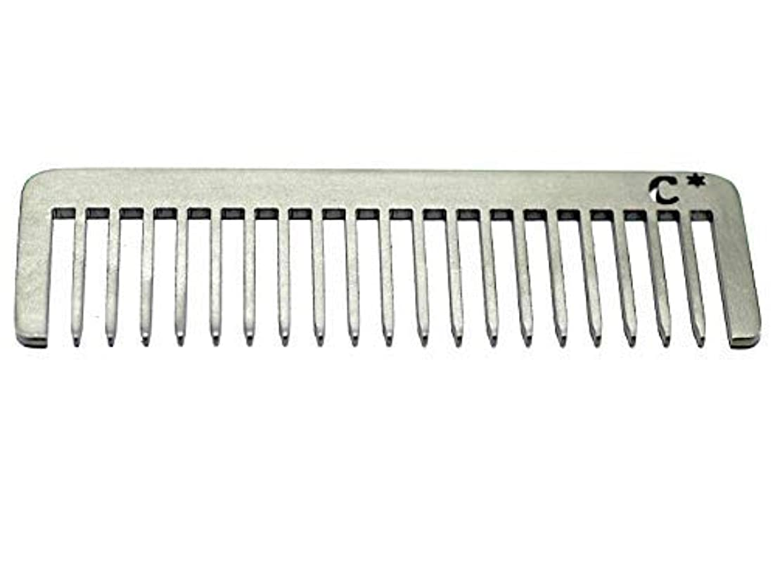 時期尚早神話赤道Chicago Comb Short Model 5 Standard, Made in USA, Stainless Steel, Wide Tooth, Rake Comb, Anti-Static, Ultra-Smooth...