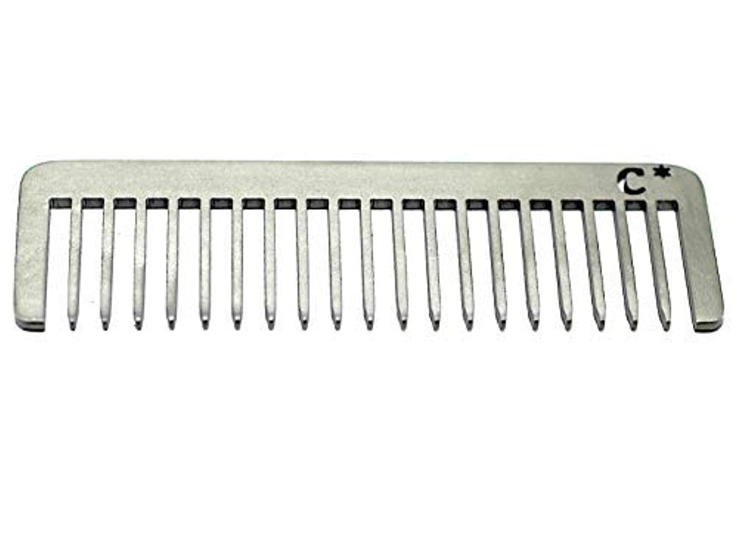 麦芽研究所言語学Chicago Comb Short Model 5 Standard, Made in USA, Stainless Steel, Wide Tooth, Rake Comb, Anti-Static, Ultra-Smooth...