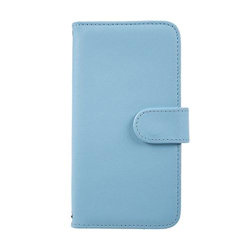 [スマ通] Xperia 8 SOV42 スマホケース スマホカバー 携帯ケース 携帯カバー 手帳型 本革 ライトブルー SONY ソニー エクスペリア エイト au SIMフリー